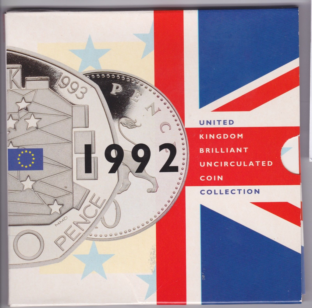 1992 BRILLIANT UNCIRCULATED COIN YEAR SET