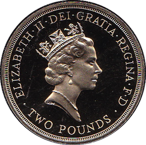 1989 TWO POUND PROOF £2 CLAIM OF RIGHTS SCOTTISH CROWN