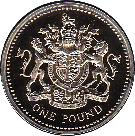 1983 ONE POUND PROOF £1 ROYAL ARMS