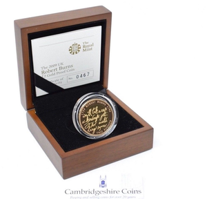 2009 Gold Proof £2 Robert Burns Coin Box COA Bullion Double Sovereign