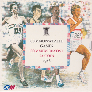 1986 £2 UNCIRCULATED PRESENTATION PACK COMMONWEALTH GAMES