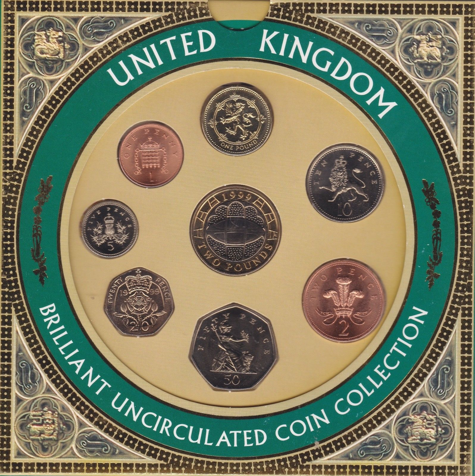 1999 BRILLIANT UNCIRCULATED COIN YEAR SET