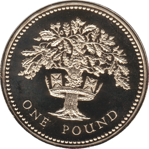 1987 ONE POUND PROOF £1 ENGLISH OAK