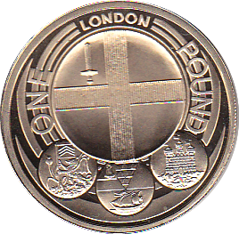 2010 ONE POUND PROOF CITY LONDON
