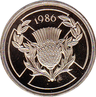 1986 TWO POUND PROOF XIII COMMONWEALTH GAMES JULY 1986