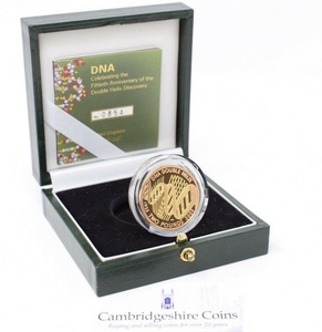 2003 Gold Proof £2 DNA Double Helix Coin Box COA Bullion Double Sovereign