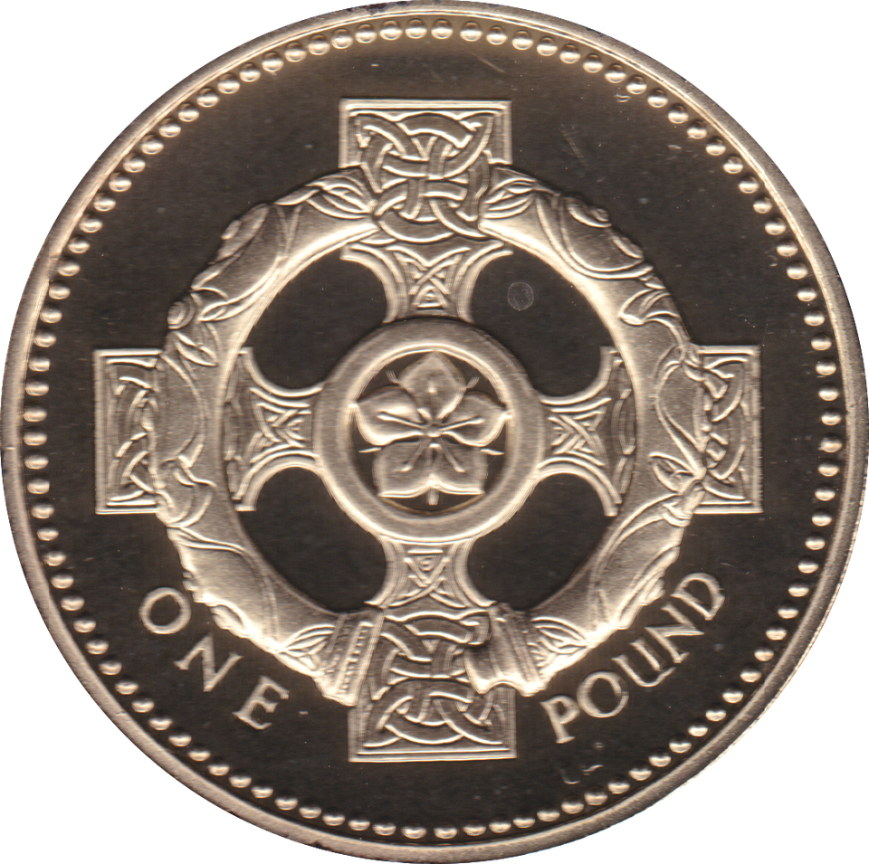 2001 ONE POUND PROOF £1 NORTHERN IRELAND CELTIC CROSS