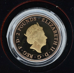 2017 Gold Proof £2 Mary Shelley Frankenstein Monster Coin Box COA 570 Limited
