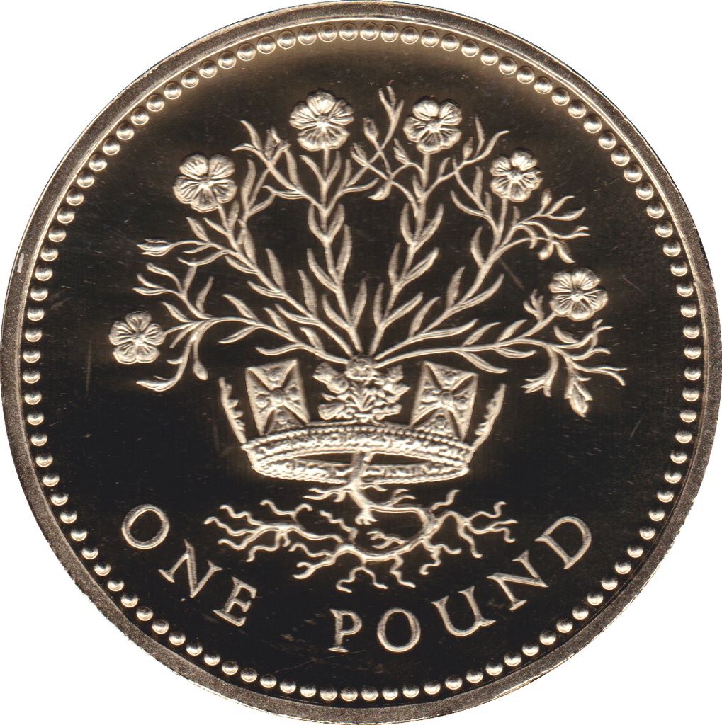 1986 ONE POUND PROOF £1 NORTHERN IRELAND FLAX
