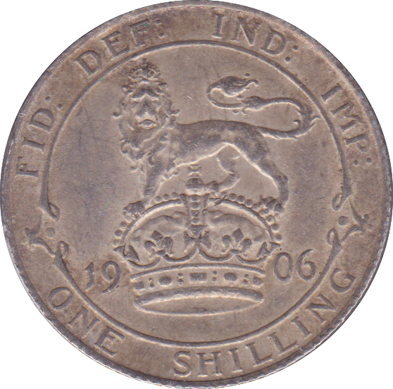 1906 SHILLING ( EF ) SMALL SCRATCH