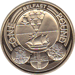2010 ONE POUND PROOF CITY BELFAST