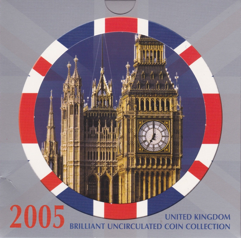 2005 BRILLIANT UNCIRCULATED COIN YEAR SET