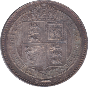1887 SHILLING ( PROOF )