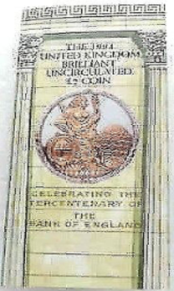 Brilliant Uncirculated £1 Coin Presentation Pack United Kingdom 1994