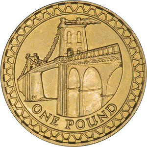 Brilliant Uncirculated £1 Coin Presentation Pack Menai Bridge Wales 2005