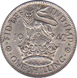 1942 SHILLING ENGLISH ( EF )