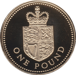 1988 ONE POUND PROOF £1 ROYAL SHIELD