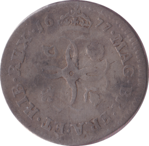 1677 MAUNDY FOURPENCE ( F )