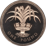 1985 ONE POUND PROOF £1 WELSH LEEK