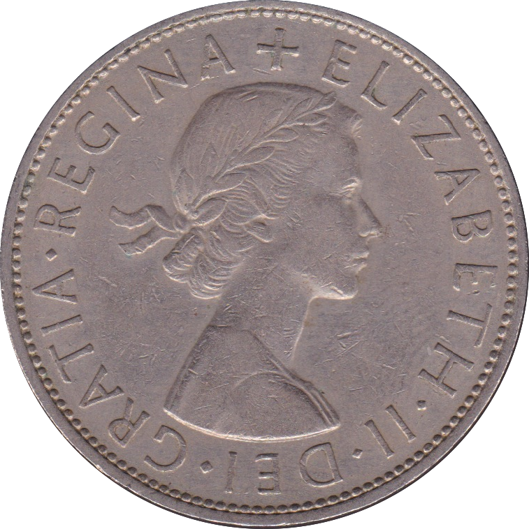 1960 HALFCROWN ( FINE OR BETTER )