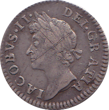 1686 MAUNDY FOURPENCE ( GF )