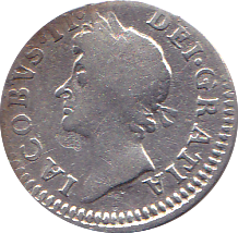 1687 MAUNDY FOURPENCE ( NF ) 7 OVER 6