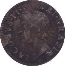 1687 MAUNDY FOURPENCE ( VF )