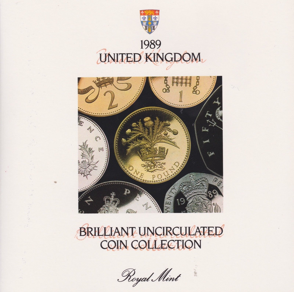 1989 BRILLIANT UNCIRCULATED COIN YEAR SET