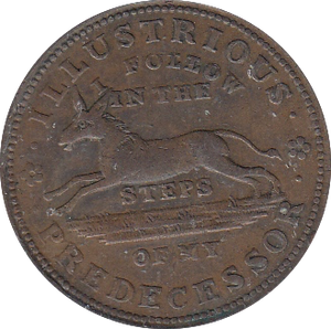 1837 USA HARD TIMES TOKEN