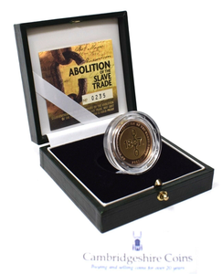 2007 Gold Proof £2 Abolition of Slave Trade Coin BOX COA Double Sovereign