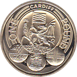 2011 ONE POUND PROOF CARDIFF  CITY
