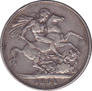 1891 CROWN ( VF ) B