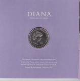 1999 Brilliant Uncirculated £5 Coin Presentation Pack Diana Memorial
