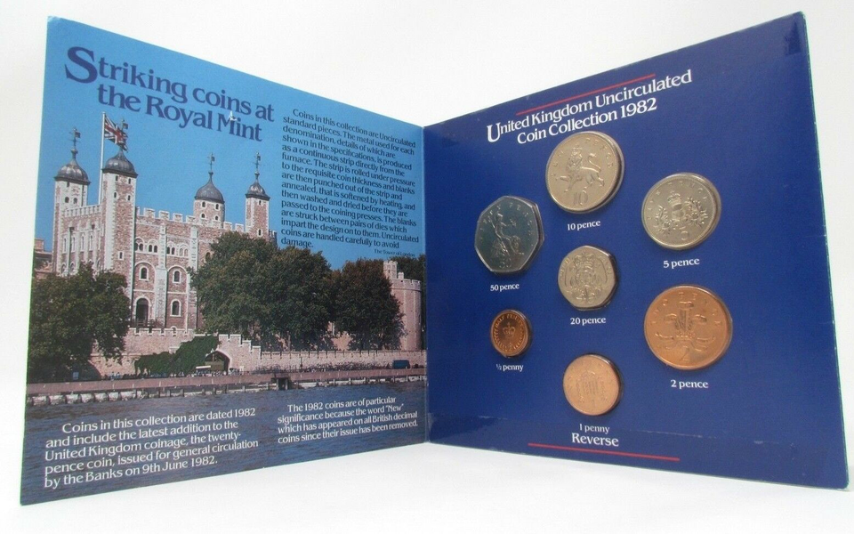 1982 BRILLIANT UNCIRCULATED COIN YEAR SET