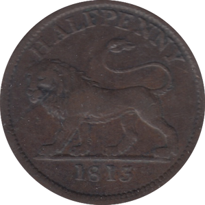 1813 HALF PENNY TOKEN MIDDLESEX