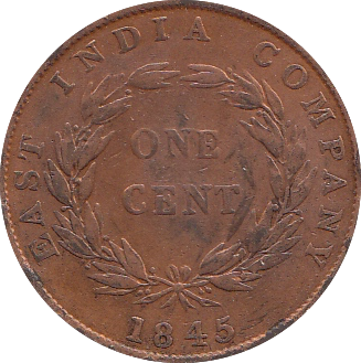 1845 EAST INDIA COMPANY ONE CENT