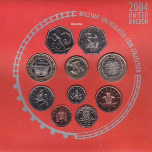 2004 BRILLIANT UNCIRCULATED COIN YEAR SET