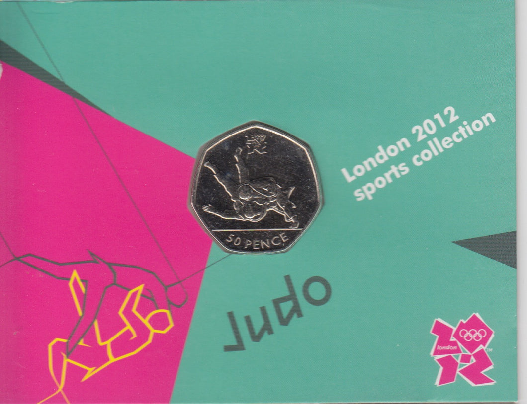 2011 Royal Mint London 2012 Olympic 50p Sports Collection Pack BU Album Judo