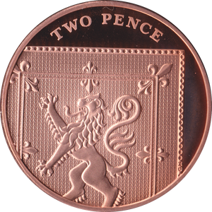 2020 2p TWO Pence PROOF Coin Section of Shield