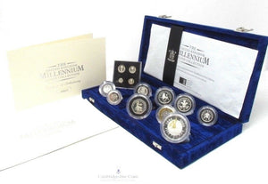 2000 Millennium Silver Proof Coin Set Maundy Money Box COA Bullion Royal Mint