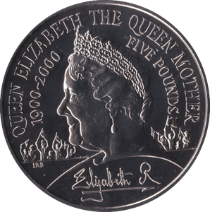 2000 BRILLIANT UNCIRCULATED QUEEN MOTHER 100TH BIRTHDAY £5 COIN BU