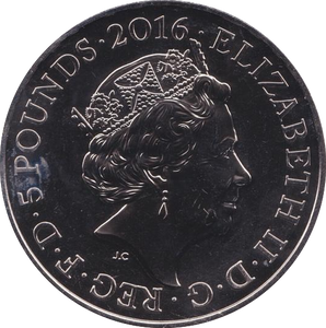 2016 BRILLIANT UNCIRCULATED QUEEN 90TH BIRTHDAY £5 COIN BU