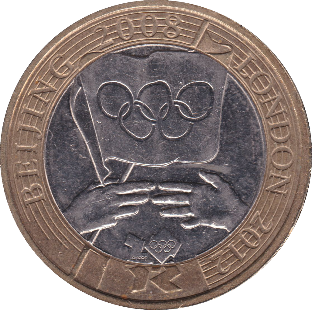 2008 £2 CIRCULATED OLYMPIC GAMES HANDOVER