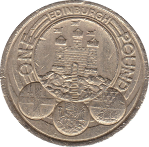 2011 CIRCULATED £1 Edinburgh