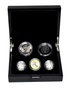 2010 The UK Silver Piedfort Proof Coin Collection BOX + COA Royal Mint