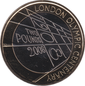 2008 TWO POUND BU £2 OLYMPIC CENTENARY 4TH