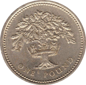 1987 CIRCULATED £1 English Oak