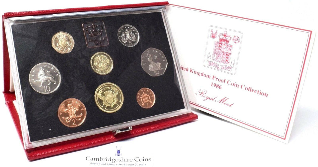 1986 ROYAL MINT PROOF SET DELUXE