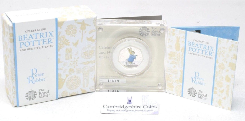 2017 Brand New Beatrix Potter Tale of Peter Rabbit Silver Proof 50p BOX + COA