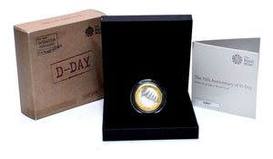 2019 Royal Mint Silver Proof £2 Silver Proof D-Day 75th Anniversary BOX + COA
